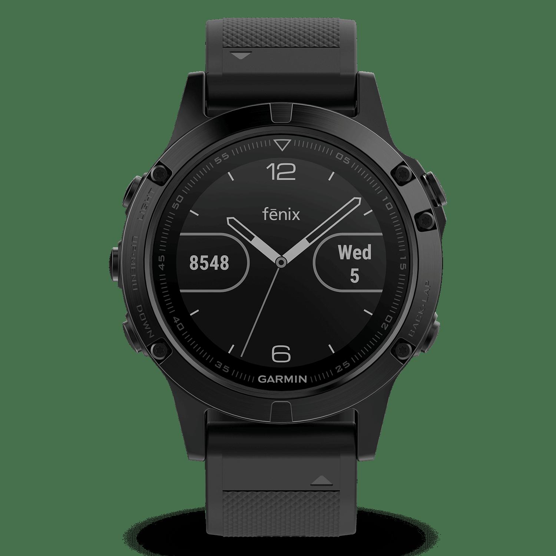 garmin Uhr Fenix 5 saphir schwarz